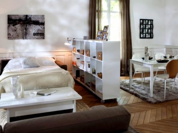 Aménagement intérieur : scinder un espace avec une étagère sans fond