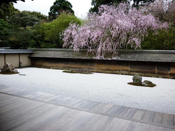Jardin japonais sec à Kyoto