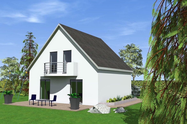 modèle maison 2 pans à construire