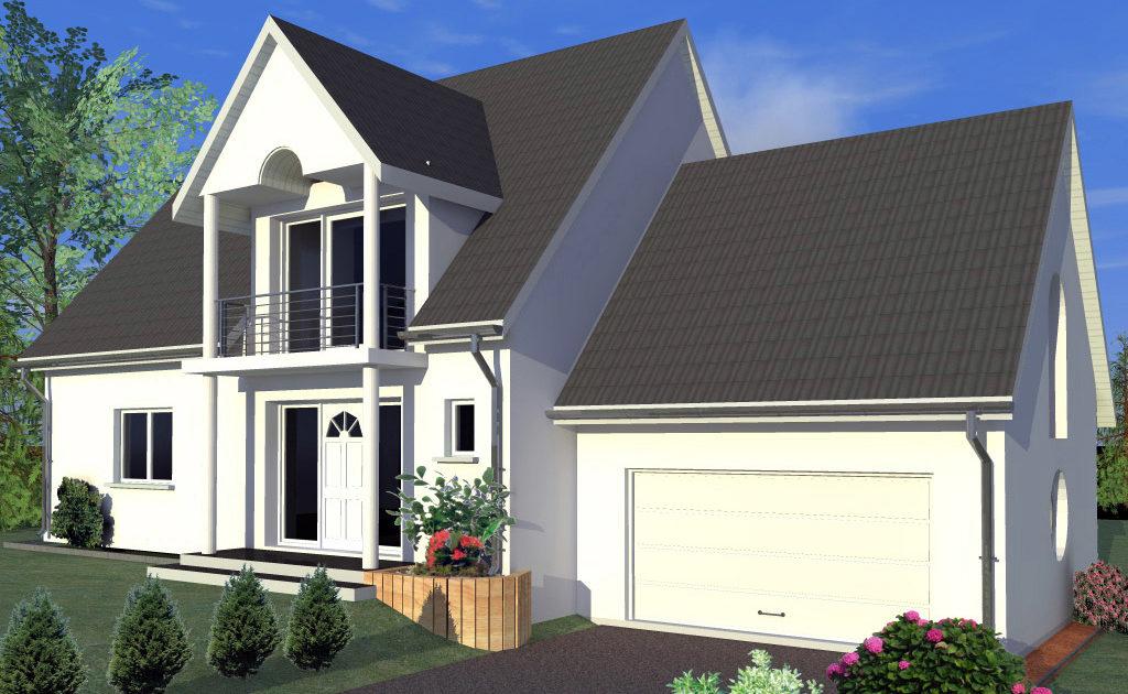 modèle maison avec garage