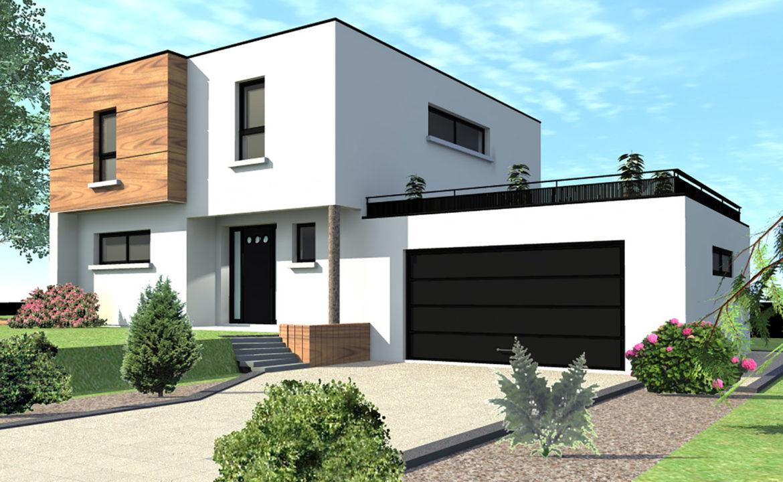 modèle maison toit plat à construire